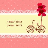 Día del `s de la tarjeta del día de San Valentín Postal para el día del ` s de la tarjeta del día de San Valentín con un decorati Imagenes de archivo