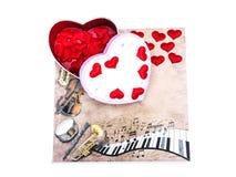 Día del `s de la tarjeta del día de San Valentín día de todos en amor Imagenes de archivo