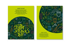 Día del ` s de StPatrick Tarjetas del saludo y de la invitación Foto de archivo libre de regalías