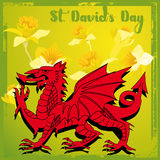 Día del St Davids libre illustration