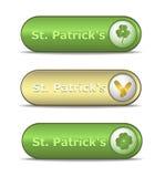 Día del St. Patrick del botón del Web Imágenes de archivo libres de regalías