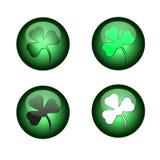 Día del St. Patrick feliz. Iconos. Imagen de archivo
