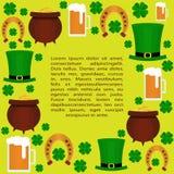 Día del St Patricka completamente alrededor Foto de archivo libre de regalías