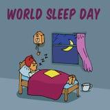 Día del sueño del mundo stock de ilustración