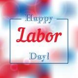Día del Trabajo del ejemplo de los saludos del día de fiesta Imagen de archivo libre de regalías