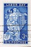 Día del Trabajo del sello de los E.E.U.U. de la vendimia 1956 Fotos de archivo