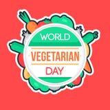 Día del vegetariano del mundo Imágenes de archivo libres de regalías