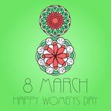 Día elemento para mujer del 8 de marzo Imagen de archivo libre de regalías