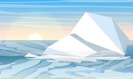 Día en el ártico o antártico Iceberg en el agua