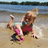 Día en el lago Imagenes de archivo