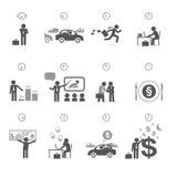 Día en horas - gestión del hombre de negocios de tiempo libre illustration