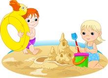 Día en la playa ilustración del vector