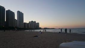 Día en la playa Chicago céntrica fotografía de archivo