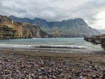 Día en la playa en las islas Canarias Fotos de archivo libres de regalías