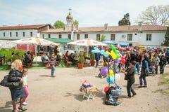 Día en Pomorie, Bulgaria Imagen de archivo