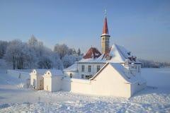 Día escarchado de enero del palacio del priorato fotos de archivo