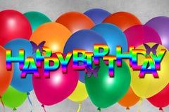 Día feliz colorido del nacimiento para la tarjeta o la bandera libre illustration