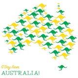 ¡Día feliz de Australia! Imagen de archivo libre de regalías