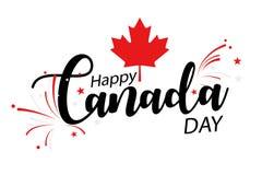 Día feliz de Canadá ilustración del vector