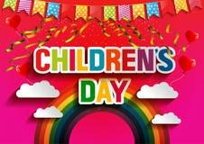 Día feliz de Children's stock de ilustración
