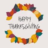 Día feliz de la acción de gracias Plantilla de la tarjeta del día de la acción de gracias Fotografía de archivo