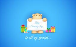 Día feliz de la amistad libre illustration