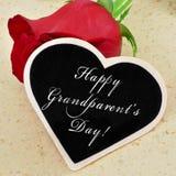 Día feliz de los abuelos Imagenes de archivo