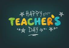 Día feliz de los profesores ilustración del vector