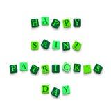 Día feliz de Patricks del santo de las palabras Fotos de archivo libres de regalías
