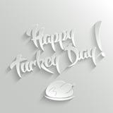 Día feliz de Turquía - tarjeta de felicitación de las letras stock de ilustración