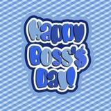 Día feliz del jefe stock de ilustración
