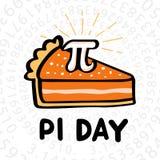 Día feliz del pi ilustración del vector