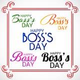 Día feliz del ` s de Boss stock de ilustración