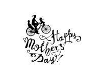 ¡Día feliz del ` s de la madre! Bici libre illustration