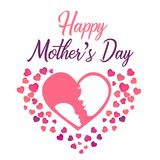 Día feliz del ` s de la madre - mamá estupenda ilustración del vector