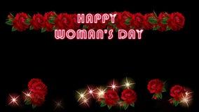 Día feliz del ` s de la mujer almacen de video