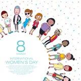 Día feliz del ` s de la mujer ilustración del vector