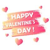 Día feliz del `s de la tarjeta del día de San Valentín Foto de archivo