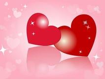 Día feliz del `s de la tarjeta del día de San Valentín Fotografía de archivo libre de regalías