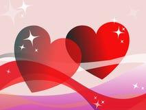 Día feliz del `s de la tarjeta del día de San Valentín Imágenes de archivo libres de regalías