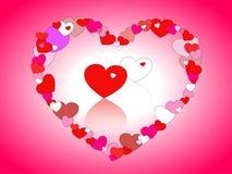 Día feliz del `s de la tarjeta del día de San Valentín Fotos de archivo