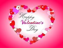 Día feliz del `s de la tarjeta del día de San Valentín Imagen de archivo