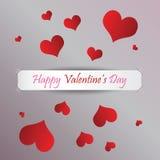 Día feliz del `s de la tarjeta del día de San Valentín Foto de archivo libre de regalías