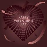 Día feliz del ` s de la tarjeta del día de San Valentín de la postal Imágenes de archivo libres de regalías