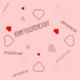 Día feliz del ` s de la tarjeta del día de San Valentín de la postal Imagen de archivo