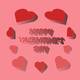 Día feliz del ` s de la tarjeta del día de San Valentín de la tarjeta Imágenes de archivo libres de regalías