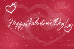 Día feliz del ` s de la tarjeta del día de San Valentín del corazón rosado del fondo Imagen de archivo libre de regalías