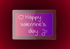Día feliz del `s de la tarjeta del día de San Valentín stock de ilustración