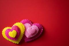 Día feliz del `s de la tarjeta del día de San Valentín imagenes de archivo