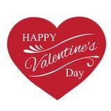 Día feliz del `s de la tarjeta del día de San Valentín Fotos de archivo libres de regalías